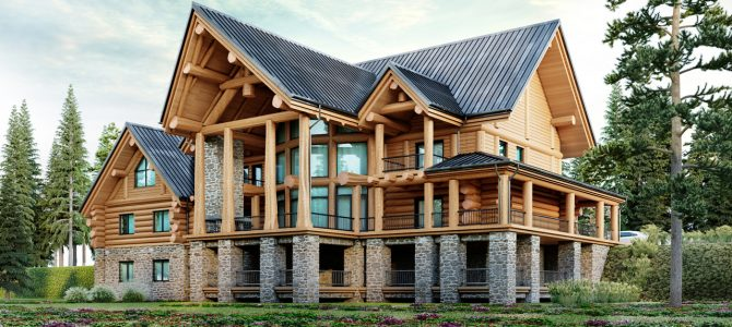 «Hawk». Timber House. Post and Beam.