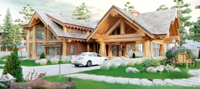 «Canada». Timber House. Post and Beam