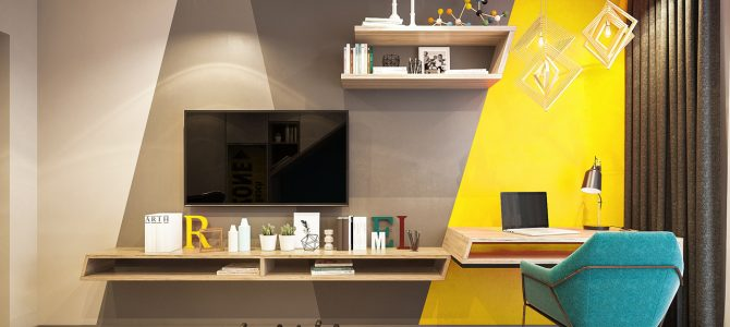 «Chocolate». From a three-bedroom into a two-bedroom apartment! 100 sq.m.