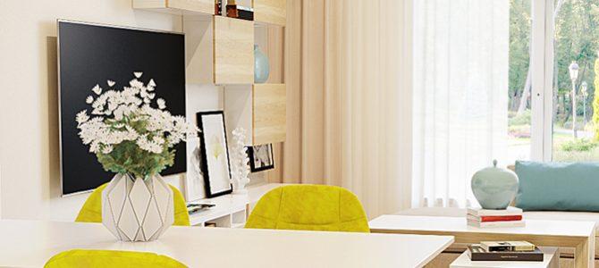 «Pine forest» villa. Kitchen-living room