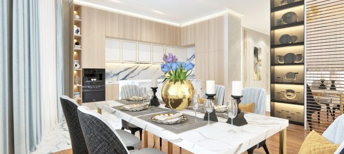 «Velvet». 48,6 sq.m. kitchen-dining room–living room