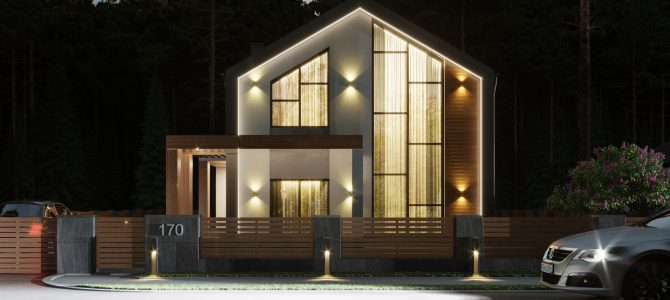 «Barn House 2». Barn-style House