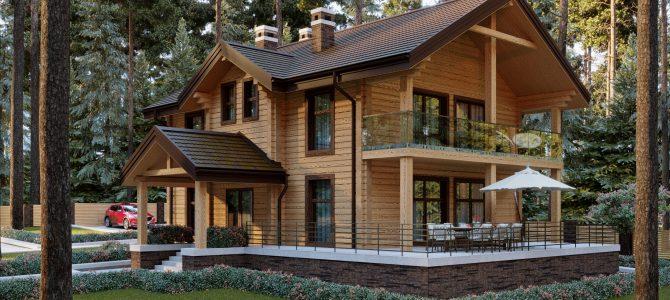 «WOODLAND». Timber House