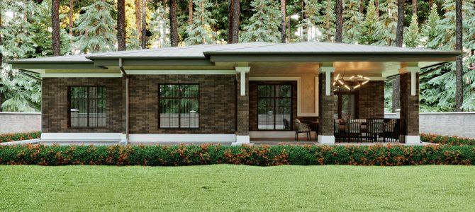 «Ground House». Prairie/Wright style House