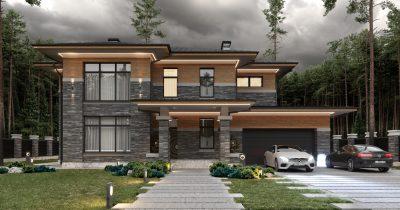 «Brigde House 2». Дом в стиле Райта
