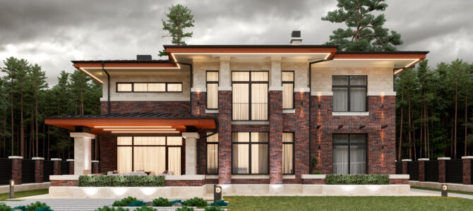 «Brigde House 3». Prairie/Wright style House