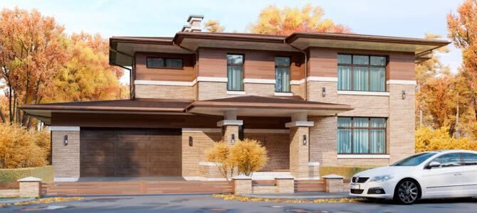 «Brigde House». Prairie/Wright style House