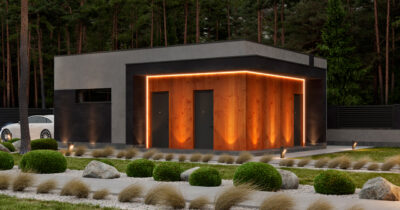 «1 Forest House». Гараж в стиле Райта