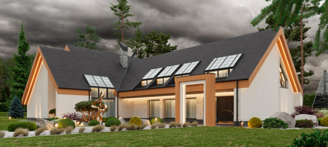 «Forest Jewel». Scandinavian-style House