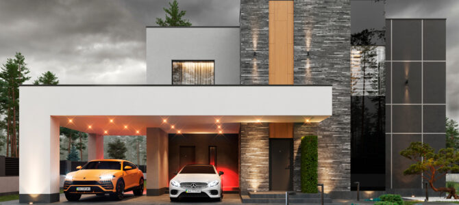 «Zoryno. Dark». Contemporary-style House