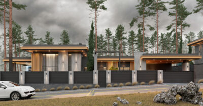 «1 Cinema House». Prairie/Wright-style house