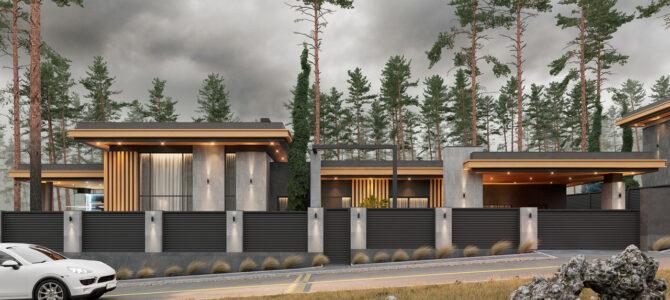 «2.1 Cinema House». Prairie/Wright-style House