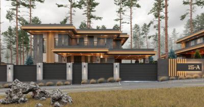 «2 Cinema House». Prairie/Wright-style house