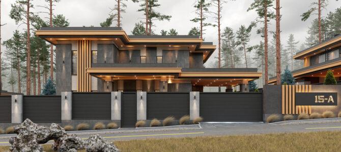 «2.2 Cinema House». Prairie/Wright-style House