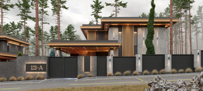 «2.3 Cinema House». Prairie/Wright-style House
